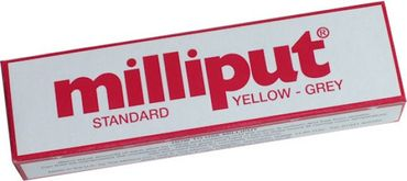 Milliput Modelliermasse Standard Yellow - Grey 113.4g (Epoxy Putty)
