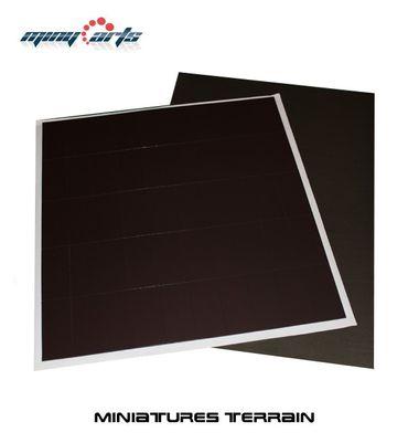 50 Magnetbases 23 x 50 mm mit Ferrofolie SK