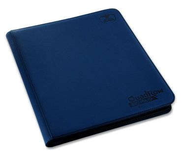 12-Pocket QuadRow Zipfolio Xenoskin Dark Blue