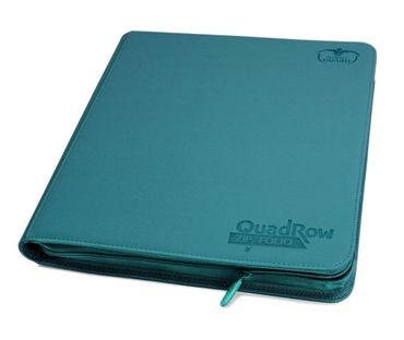 12-Pocket QuadRow Zipfolio Xenoskin Petrol Blue
