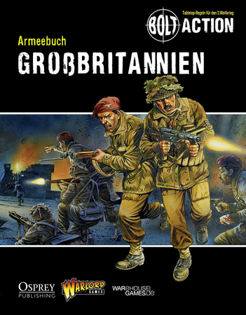 Bolt Action Armeebuch Grossbritannien (Deutsch) + Miniatur