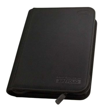Mini American 9-Pocket Zipfolio XenoSkin Black