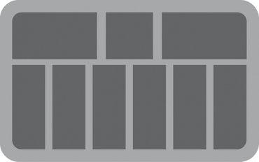 Half-Size Schaumstoff 60 mm (9 Fächer) – Bild 2