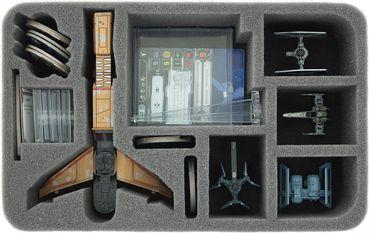 Schaumstoffeinlage für Star Wars X-WING 1x Reisszahn (Hounds Tooth) plus 5 Schiffe – Bild 2