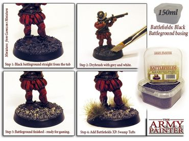Battlefields - Black Battleground Basing 150ml – Bild 2