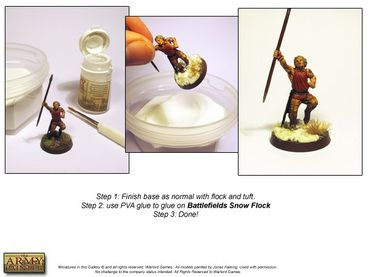 Battlefields - Snow Flock Basing 150ml – Bild 2