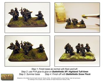 Battlefields - Snow Flock Basing 150ml – Bild 3