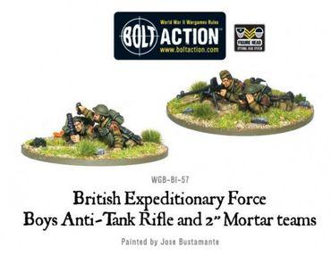 BEF Anti-Tank Rifle Team & Mortar Team 28mm