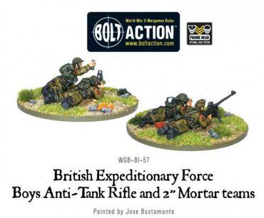 BEF Anti-Tank Rifle Team & Mortar Team 28mm – Bild 2
