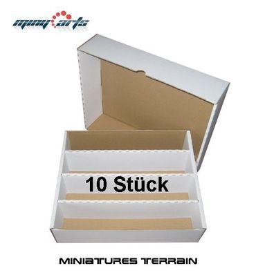 10x Papp- Box / Karton für ca. 4000 Karten (Sortierkiste)