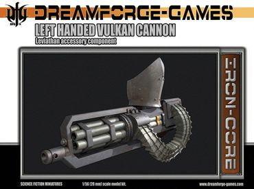 Leviathan Left Handed Vulkan Cannon - 28mm Accessory Weapon