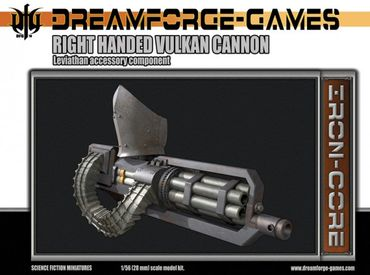 Leviathan Right Handed Vulkan Cannon - 28mm Accessory Weapon