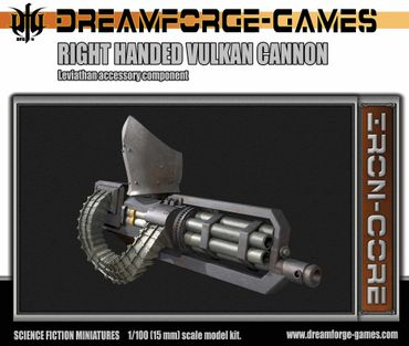 Leviathan Right Handed Vulkcan Cannon - 15mm Accessory Weapon – Bild 1