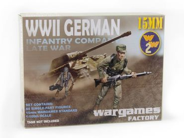 15mm WWII German Infantry Company (84)