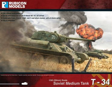 Soviet Medium Tank T-34/76 1/56 (28mm) – Bild 1