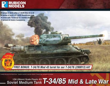 T-34/85 Mid & Late War 1/56 (28mm)