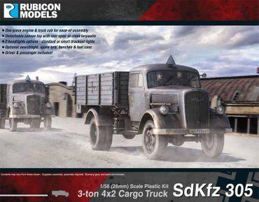 SdKfz 3053-ton 4x2 Cargo Truck 1/56 (28mm)