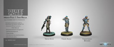 Dire Foes Mission Pack 1: Train Rescue (Panoceania vs Combined Army) – Bild 1