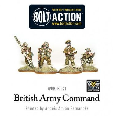 British Army Infantry Command 28mm