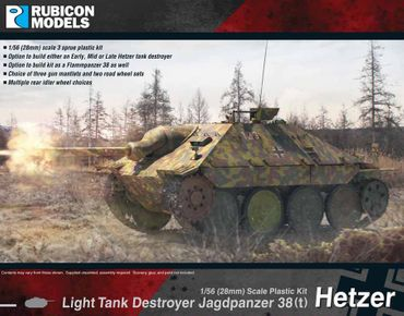 Jagdpanzer 38(t) Hetzer Light Tank Destroyer 1/56 28mm