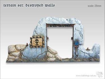 Gelände Set - Zerstörte Mauern (6) – Bild 2