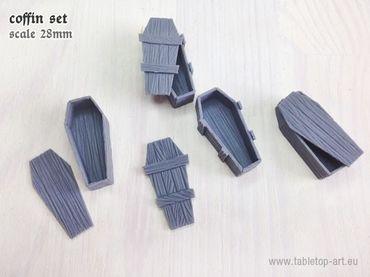 Holzsärge Set (4) – Bild 1