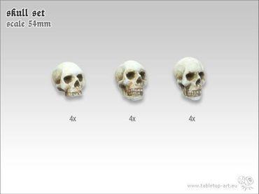 Totenschädel Set 54mm (12) – Bild 1