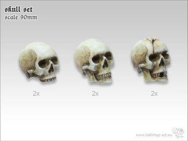 Totenschädel Set 90mm (6) – Bild 1