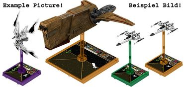 Star Wars X-Wing Blue Clear Bases and Pegs Expansion Pack – Bild 2