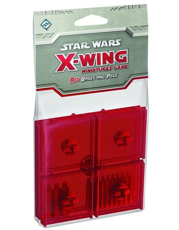 Star Wars X-Wing Red Clear Bases and Pegs Expansion Pack – Bild 1