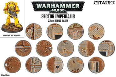 Sector Imperialis 32mm Round Bases (60 Bases)