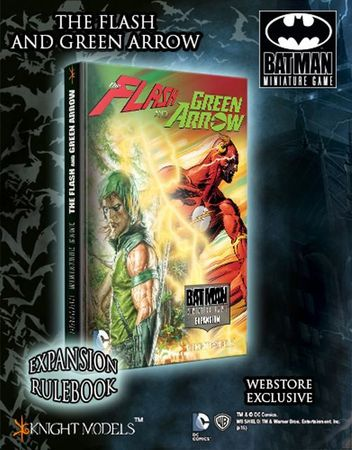 BMG The Flash and the Arrow Expansion Rulebook Alternate Cover (Englisch) + Black Flash