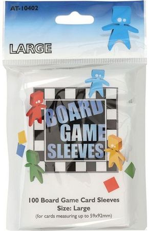 100 Board Games Sleeves Large 59x92mm European Variant Clear