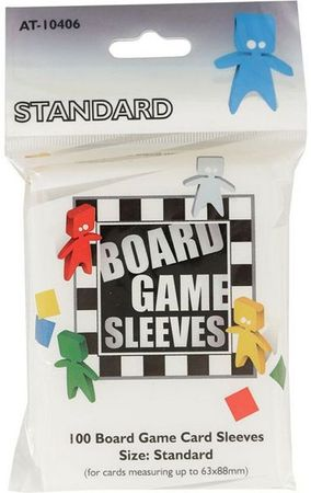 100 Board Games Sleeves Standard 63x88mm CCG Variant Clear