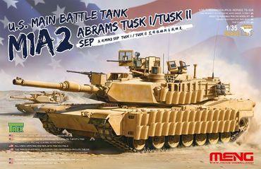 Meng U.S.Main Battle Tank M1A2 SEP Abrams TUSK I/TUSK II 1/35