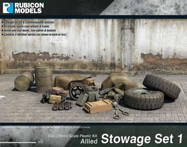 Allied Stowage Set 1 1/56 28mm