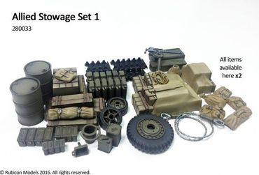 Stowage Set 1 Allied 1/56 (28mm) – Bild 2