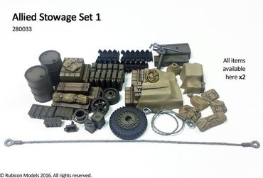 Stowage Set 1 Allied 1/56 (28mm) – Bild 1