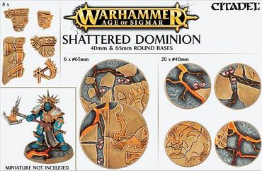 Shattered Dominion 40 und 65mm Round Bases (26 Bases)