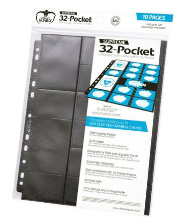 32-Pocket Pages Standard Size + Mini American Black