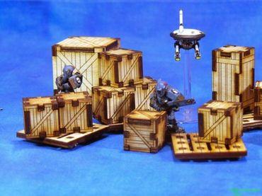 Hohe Kisten und Paletten Set – Bild 1