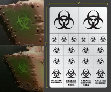 Biohazard Airbrush Stencil (Terrain/Vehicle)