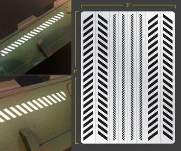 Caution Stripes Airbrush Stencil (Terrain/Vehicle)