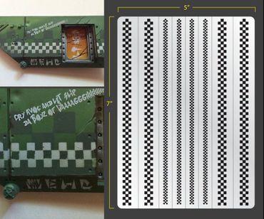 Checkers Airbrush Stencil (Terrain/Vehicle)