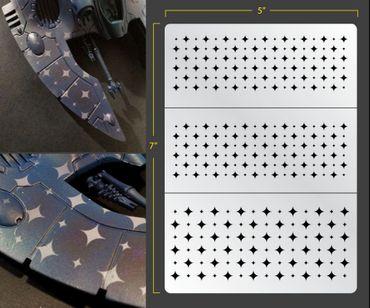 Retro Jester Diamonds Airbrush Stencil (Texture/Patern)