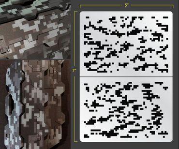 Digi Camo Airbrush Stencil 1 (Camouflage)