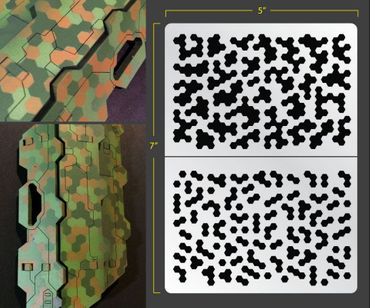 Hex Camo Airbrush Stencil (Camouflage)