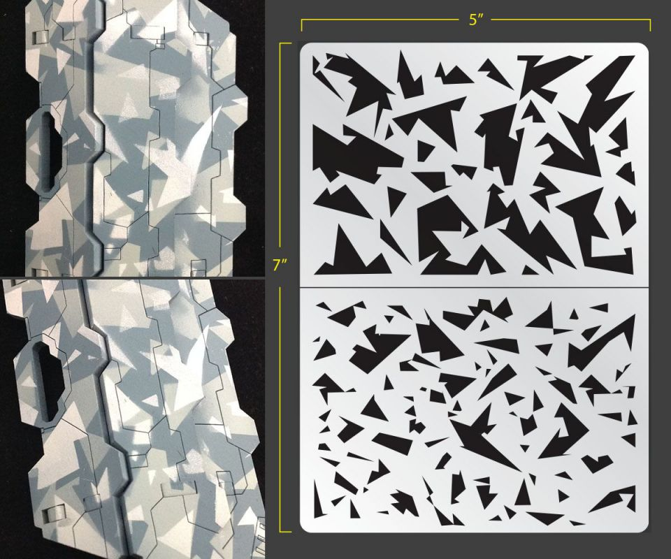 Shard Camo Airbrush Stencil Camouflage
