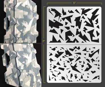 Shard Camo Airbrush Stencil (Camouflage)