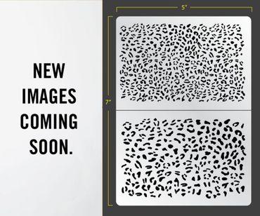 Leopard Airbrush Stencil (Organik)